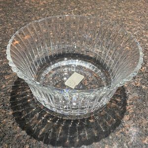 Dansk Lead Crystal Bowl. NEVER USED